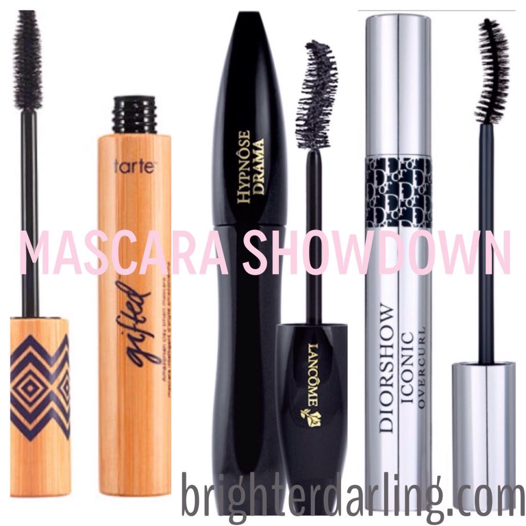 Tarte, Lancome, Dior mascara comparison