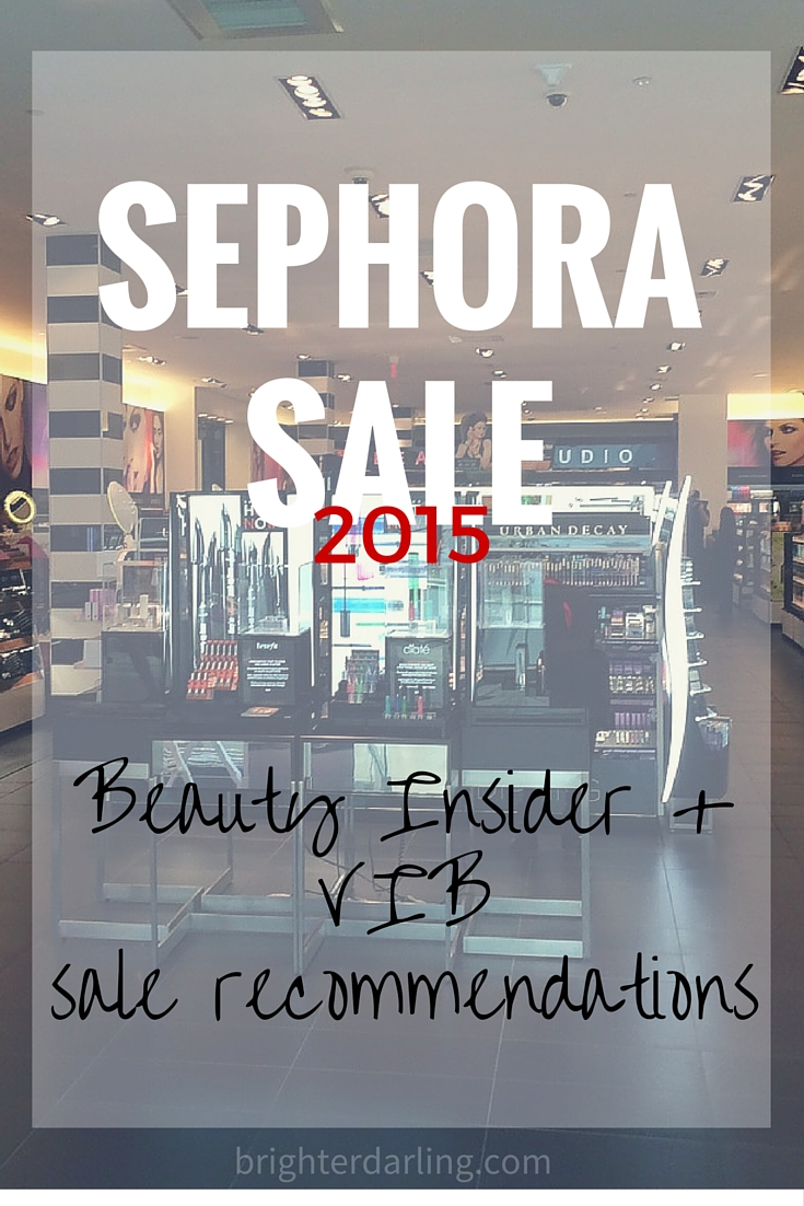 Sephora VIB Rouge Sale Ideas & Recommendations 2015 | BrighterDarling.com