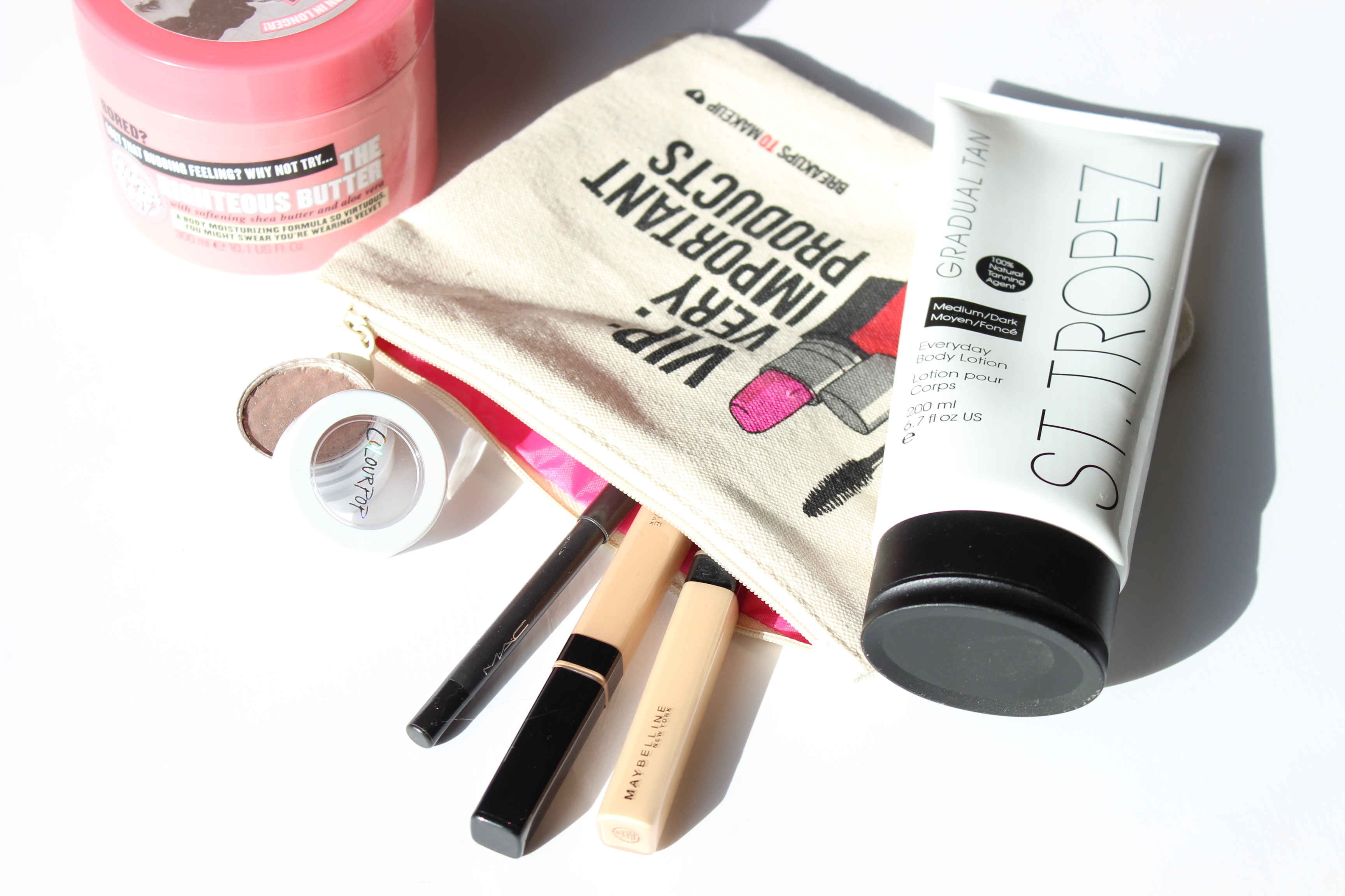 BrighterDarling.com October 2015 Makeup Favorites | Houston Beauty Blogger | Soap and Glory ColourPop Maybelline MAC St Tropez