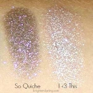 Swatches of Shadows So Quiche I Heart This ColourPop