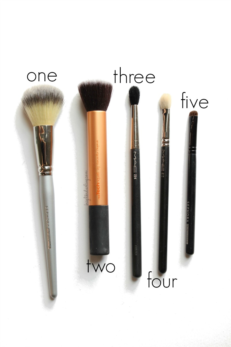 The Only 5 Makeup Brushes You Need
