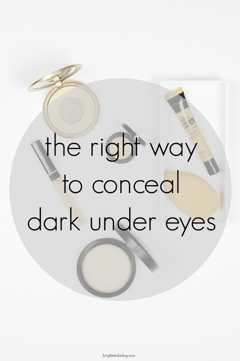 The right way to conceal dark under eyes using color correcting products and concealer