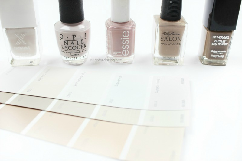 favorite winter neutral nail polishes from formula x sephora, opi, essie, sally hansen, and covergirl