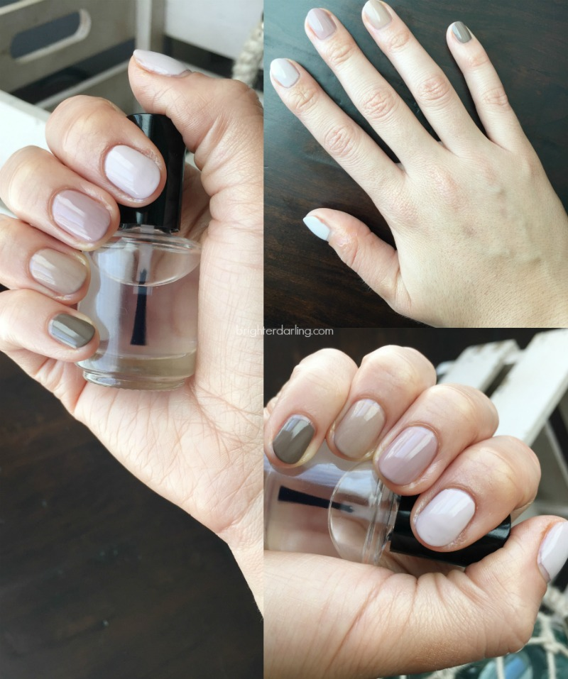 formula x for sephora thrilling, opi don't bossa nova me around, essie lady like, sally hansen divinity, covergirl outlast stay brilliant 220 toasted almond, winter neutral nude nail polishes