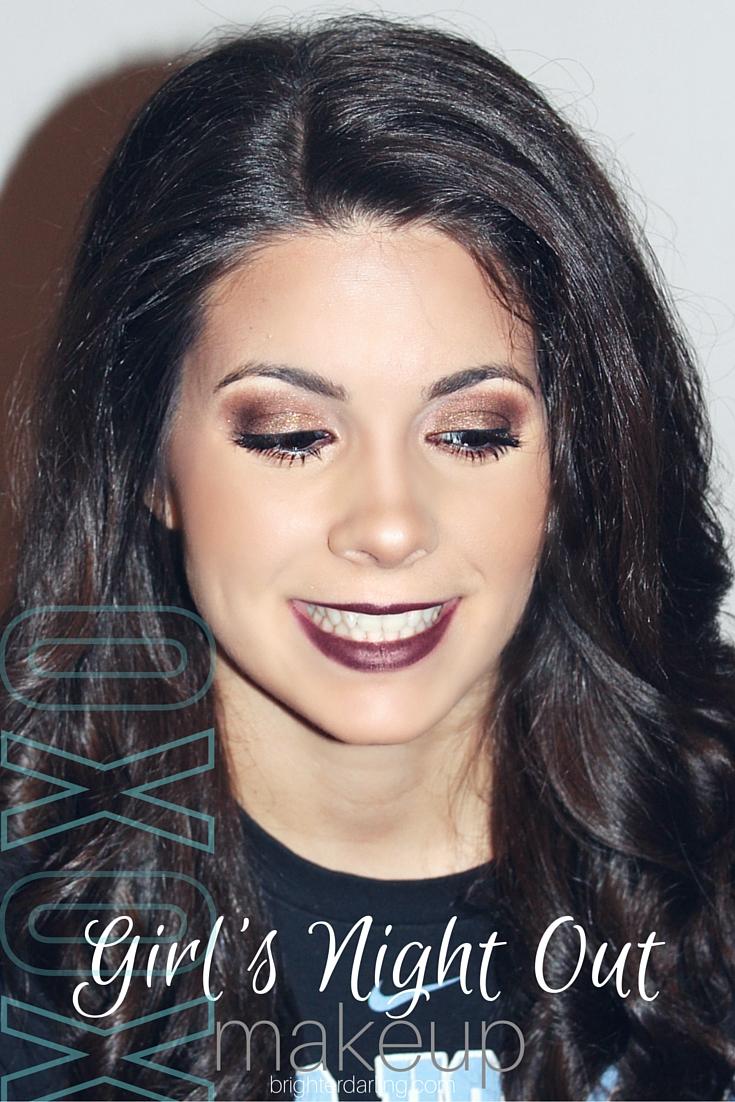 Valentine's Day Makeup Look, Dark Lip, Smokey Eye, Charlotte Tilbury Dolce Vita, MAC Cyber, ColourPop Creature