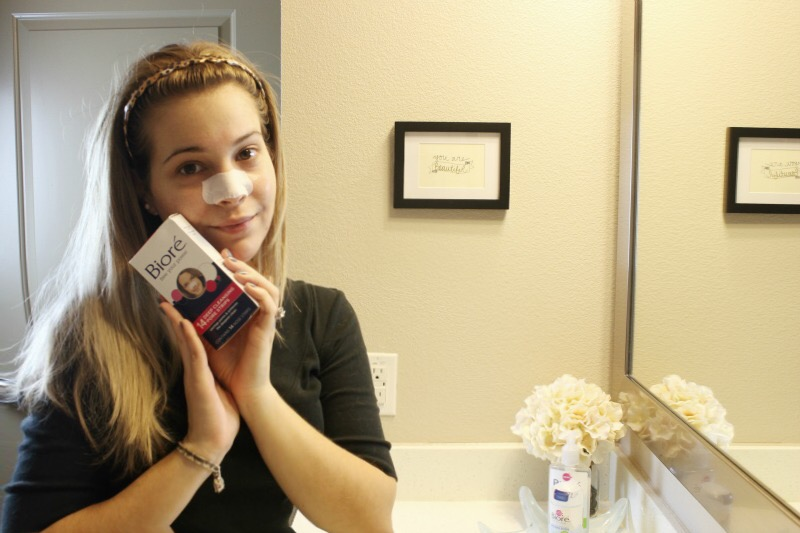 After cleansing, I always follow up my deep cleaning routine with a Biore Deep Cleansing Pore Strips. Full routine on brighterdarling.com.