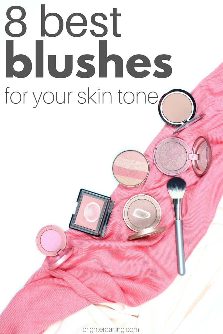 Best blushes for different skin tones on brighterdarling.com.