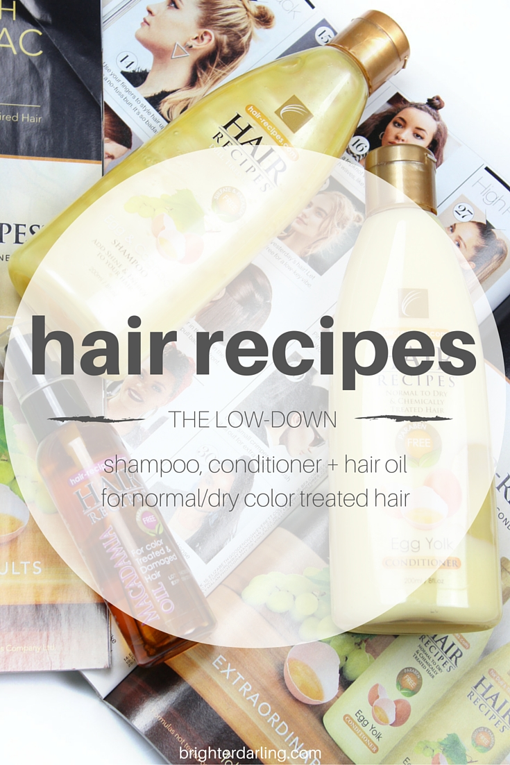 hair recipes review | egg and cognac shampoo, egg yolk conditioner and macadamia oil hair treatment on brighterdarling.com