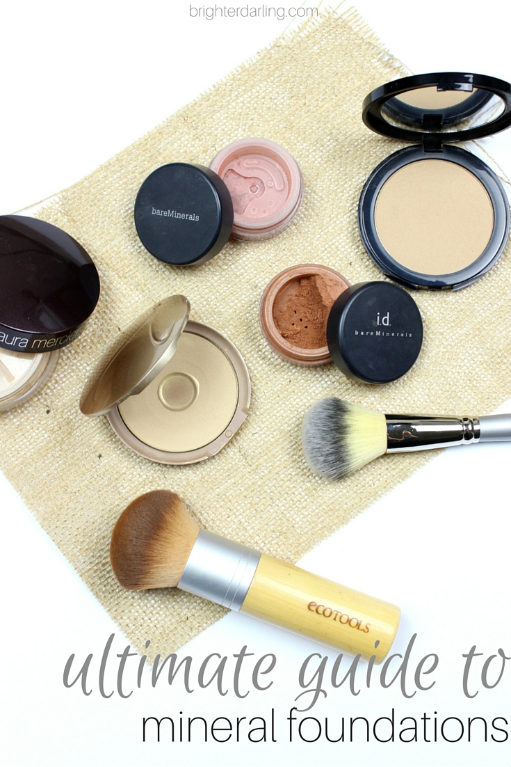 ultimate guide to mineral foundations | Laura Mercier Mineral Powder glominerals Jane Iredale Pure Pressed Base #brighterdarling