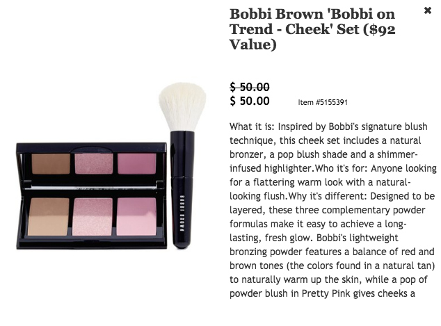 Bobbi Brown Cheek Set $92 value for $50