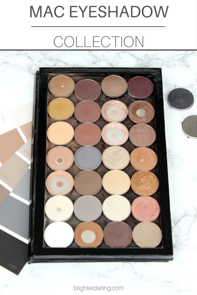 A roundup and swatches of my MAC Eyeshadow Collection in neutral shades
