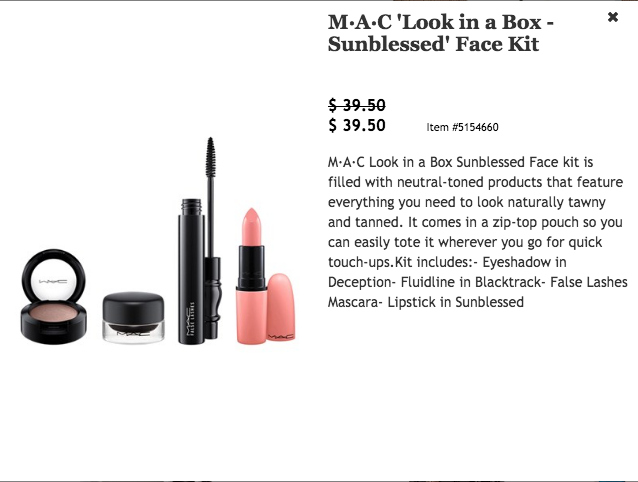 MAC Sunkissed Look In A Box $39.50