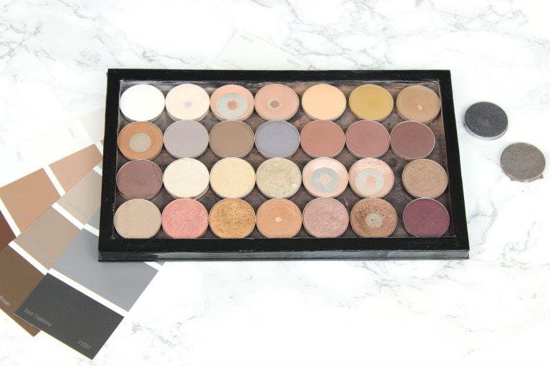 My MAC Eyeshadow Collection   NC35 Skin