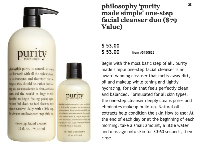 Philosophy Purity $79 value for $53