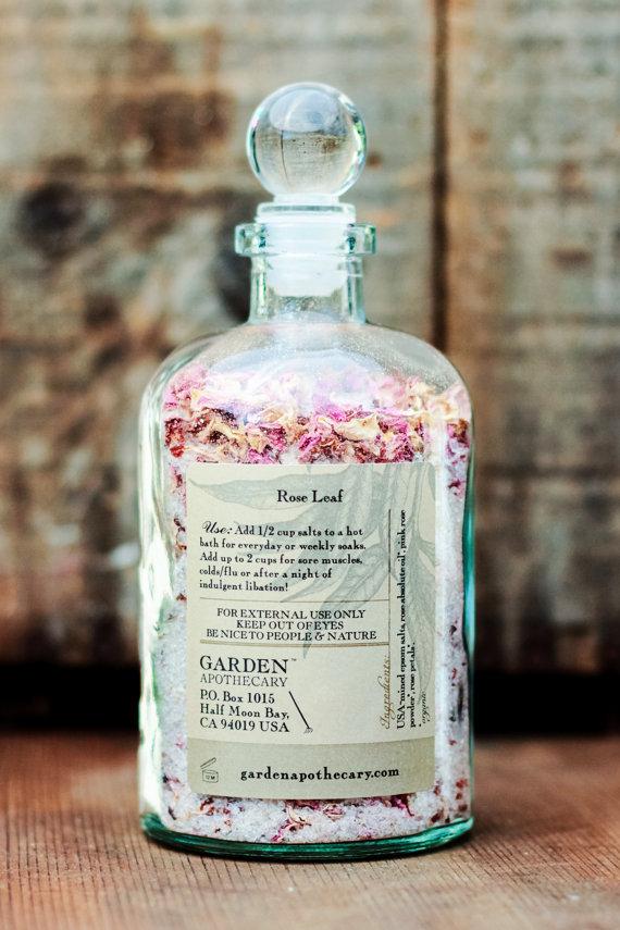 Organic Rose Bath via GardenApothecary on Etsy   Impressive Beauty Buys from Etsy
