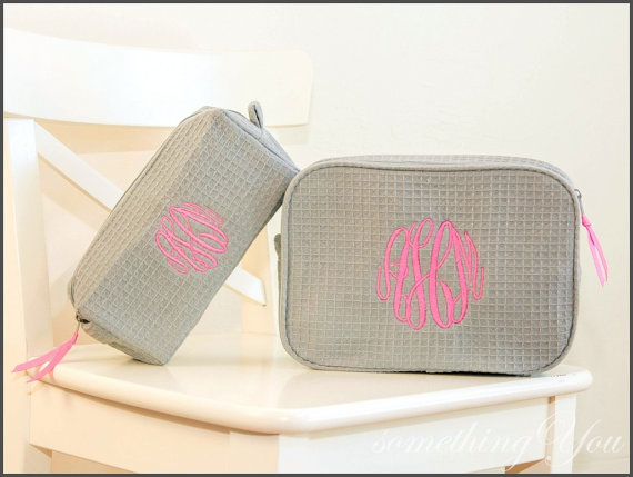 Personalized Cosmetic Bag starting $19.95   Impressive Beauty Buys from Etsy