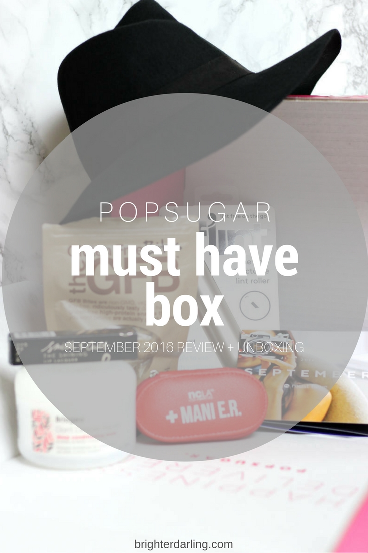 POPSUGAR Must Have Box September 2016 Review
