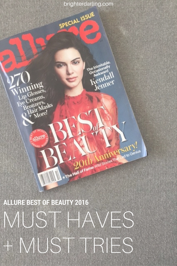 Allure Best of Beauty 2016 | Must Haves and Must Tries