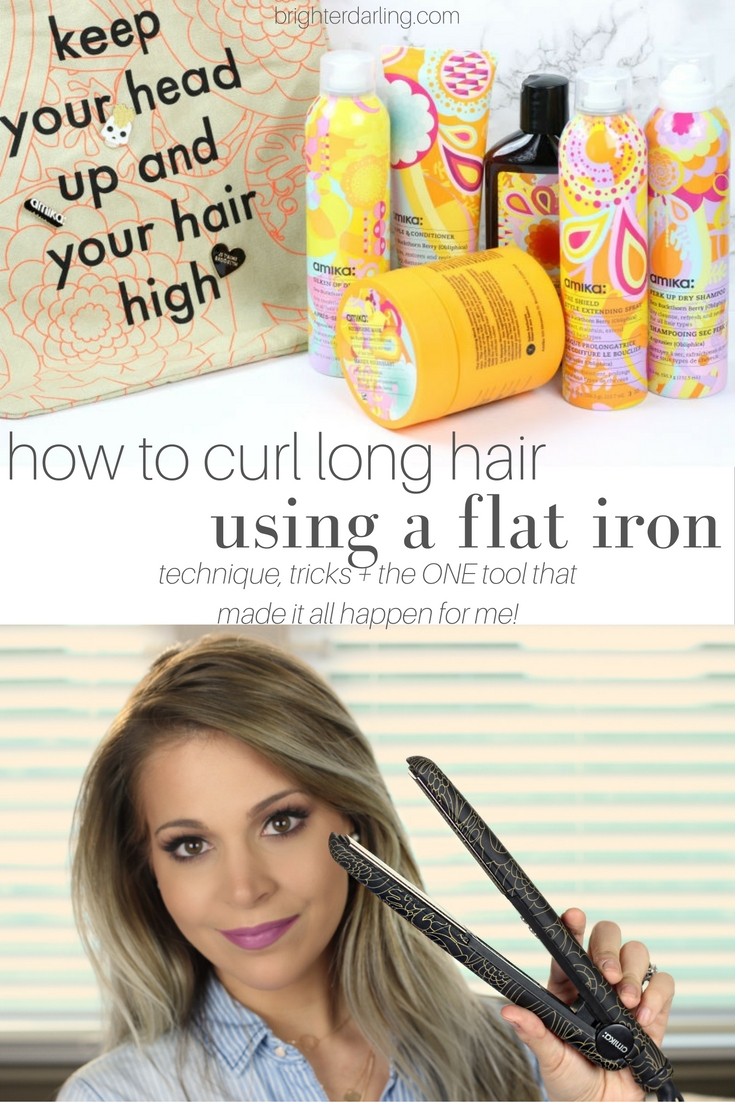 How To Curl Long Hair Using A Flat Iron by amika