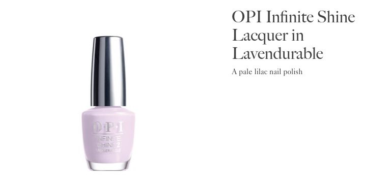 OPI Infinite Shine Lavendurable