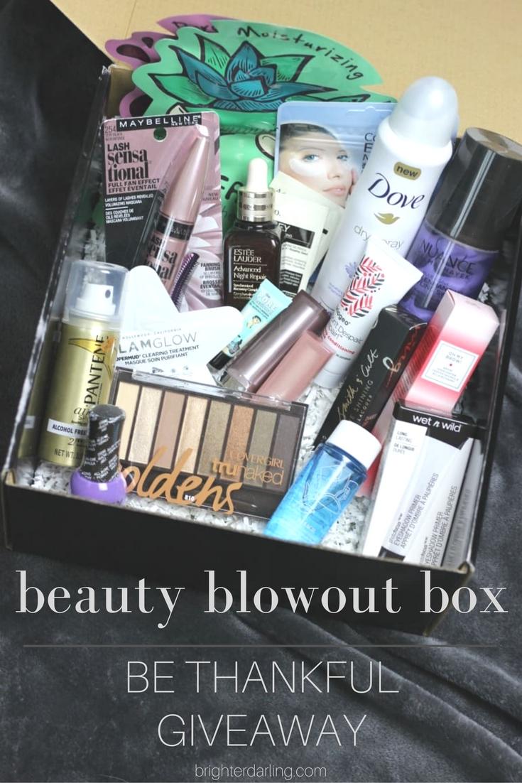 Beauty Giveaway | Nov 2016 Dec 2016 | Giveaway Beauty Blowout Box