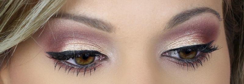 Modern Renaissance Brown Eyes   Pink and Gold Eye Makeup