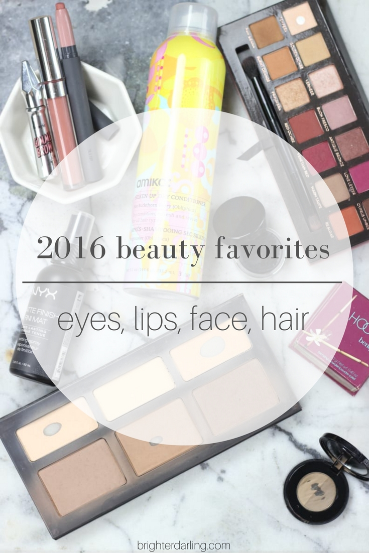 My 2016 beauty favorites are a tallying up of things that have either made repeated appearances in my monthly favorites, or just things I noted in my collection that I truly have come back to again and again.