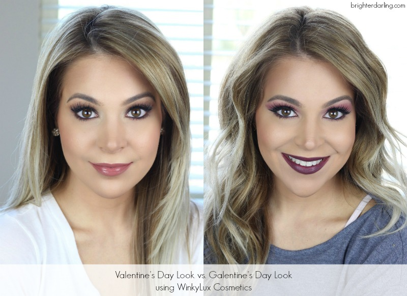 Two Valentine's Day Makeup Looks | Natural Valentine's Day Makeup | Dramatic Valentine's Day Makeup | Winky Lux Makeup