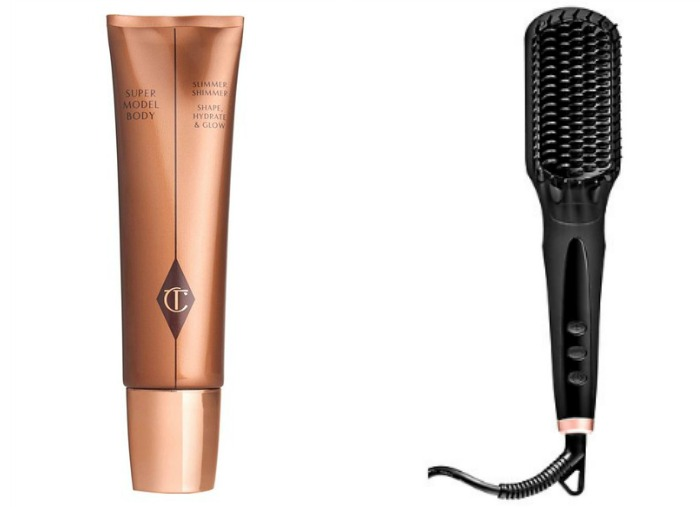 Charlotte Tilbury Supermodel Body and Amika Straightening Brush