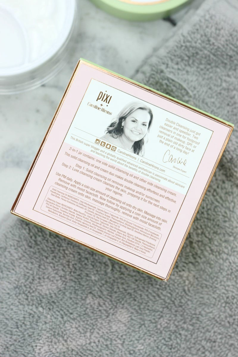 Pixi Double Cleanse Review   Pixi and Caroline Hirons Double Cleanse Review   Double Cleanse Directions   How To Use Double Cleanse