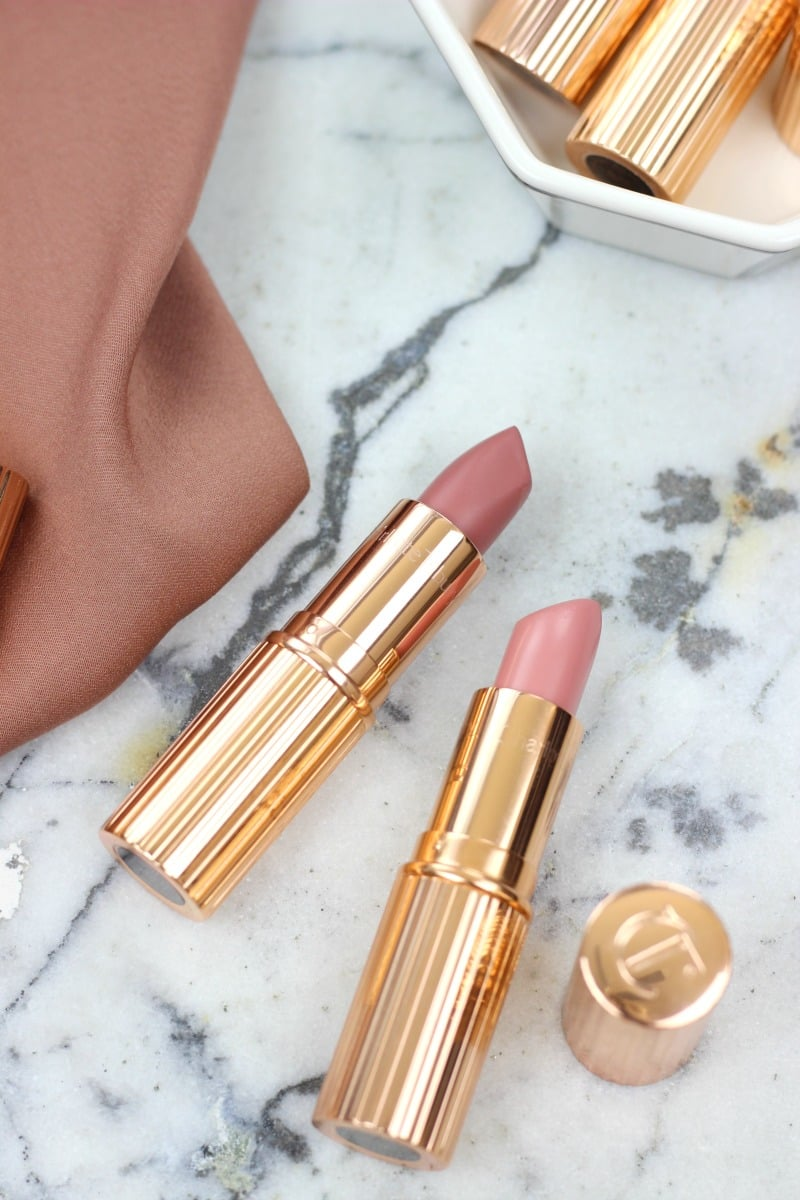 Charlotte Tilbury Pillow Talk and Valentine Lipstick Review with swatches | Beauty Blogger