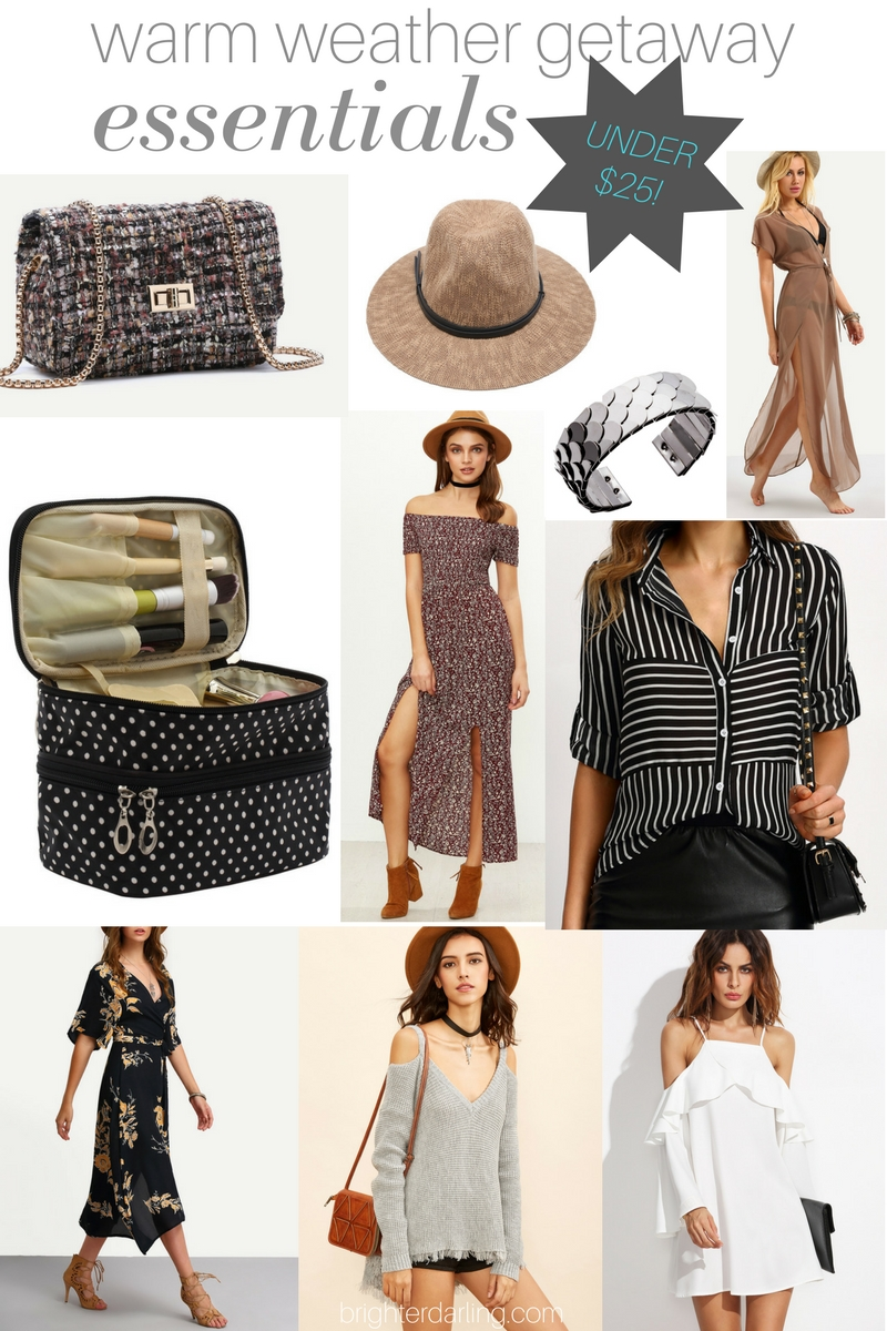 Warm Weather Getaway Essentials Under $25 by SheIn | Beauty Blogger | Style Blogger