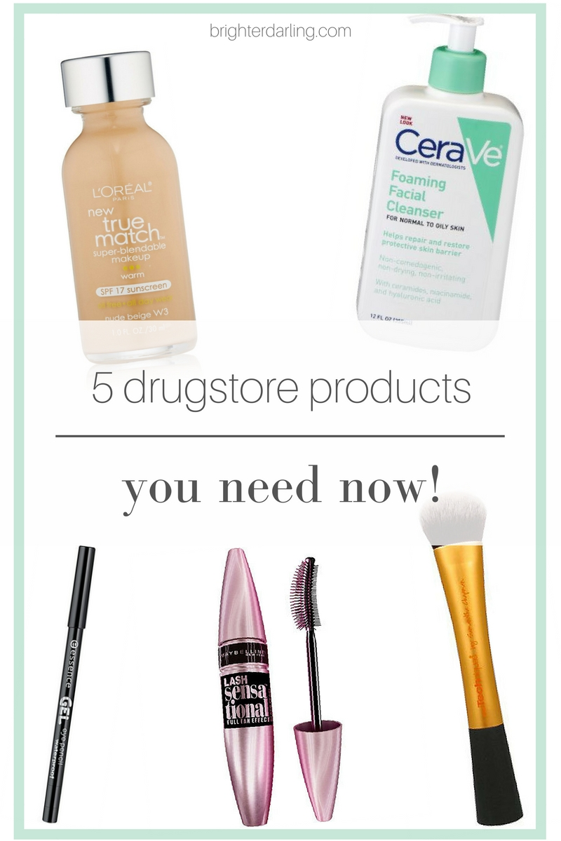 5 Drugstore Product Must Haves | 5 drugstore products you need now | Drugstore Beauty Products | Drugstore Makeup