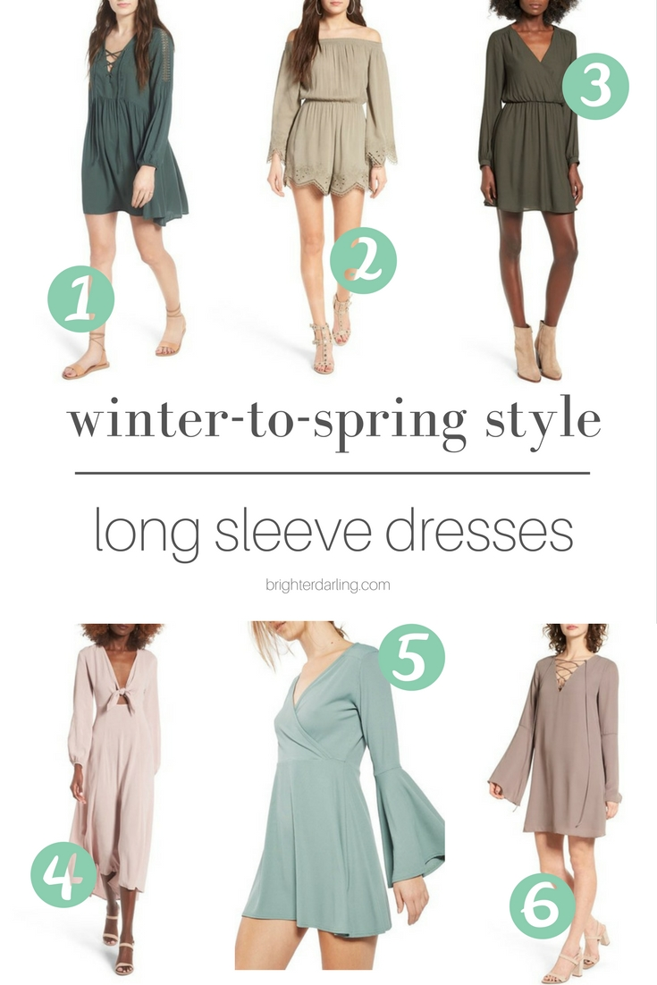 My Favorite Winter To Spring Style | Long Sleeve Dresses for Spring | Beauty Blogger Brighter Darling
