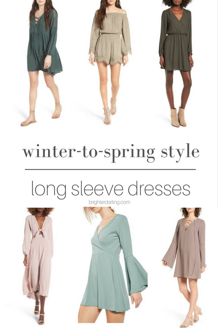 Winter to Spring Transitional Style | long sleeved dresses for spring | Long Sleeve Dresses | Beauty Blogger Brighter Darling