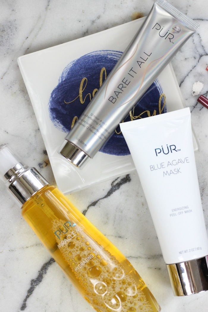 Pur Bare It All Foundation | Pur Cosmetics Miracle Mist | Pur Cosmetics Blue Agave Peel Off Mask