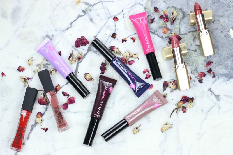 L'Oréal Lip Color | Best Lipstick from the drugstore | Favorite Lip Color at the drugstore | L'Oréal Infallible Lip Paints | L'Oréal Colour Riche Lipstick | L'Oréal Pro Matte