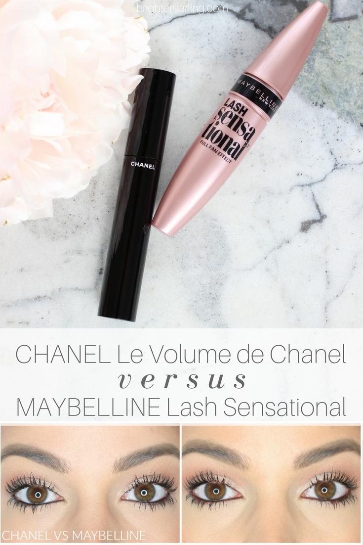 CHANEL Le Volume de Chanel Dupe - Chanel Le Volume Mascara vs Maybelline Lash Sensational