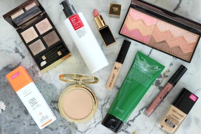 New Makeup Items Spring 2017 | Tom Ford Nude Dip, Drunk Elephant C Firma, COSRX A Sol, Benton Alue Propolis Soothing Gel, By Terry Savannah Love, Wet n Wild Photo Focus Foundation, Tom Ford Spanish Pink