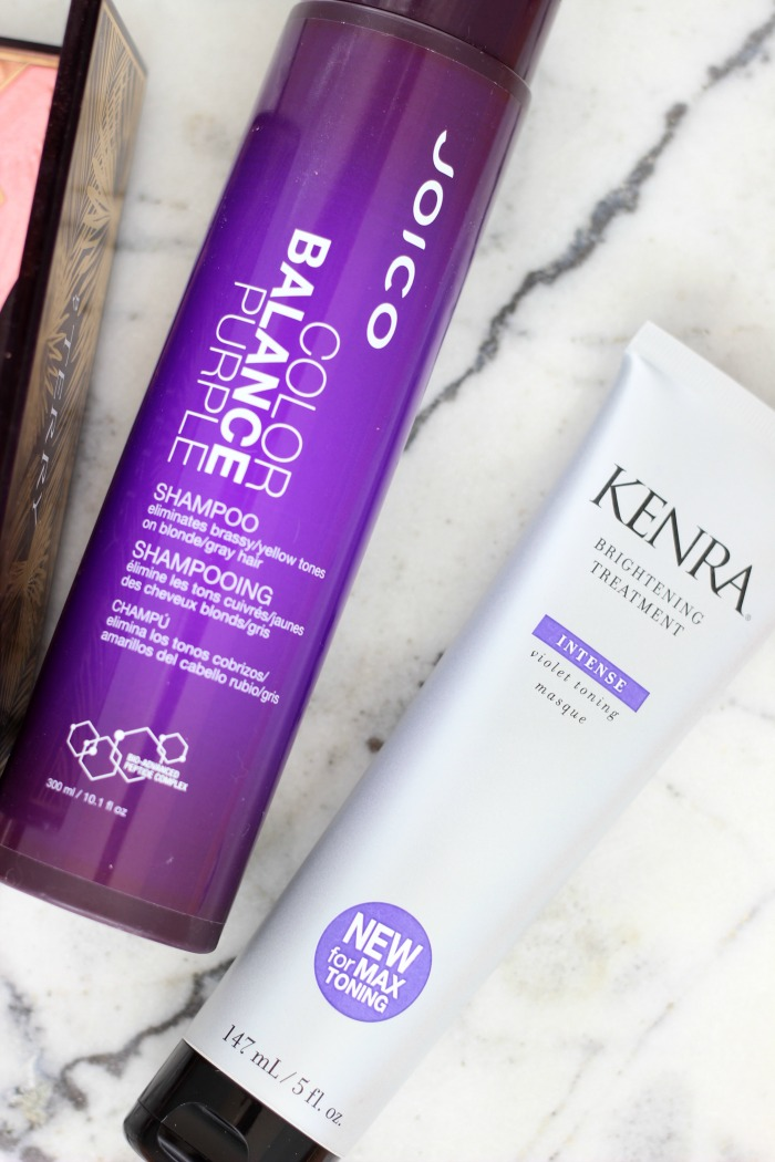 May 2017 Beauty Favorites JOICO Color Balance Purple Shampoo Kenra Intensive Brightening Treatment