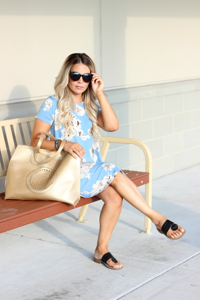 5 Perfect Summer Swing Dresses Wearing Flats feat. Shop The Mint