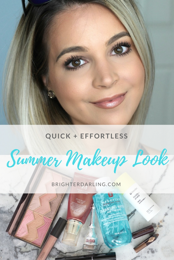 quick and effortless summer makeup look using 6 products | beauty blogger | makeup looks | easy makeup looks
