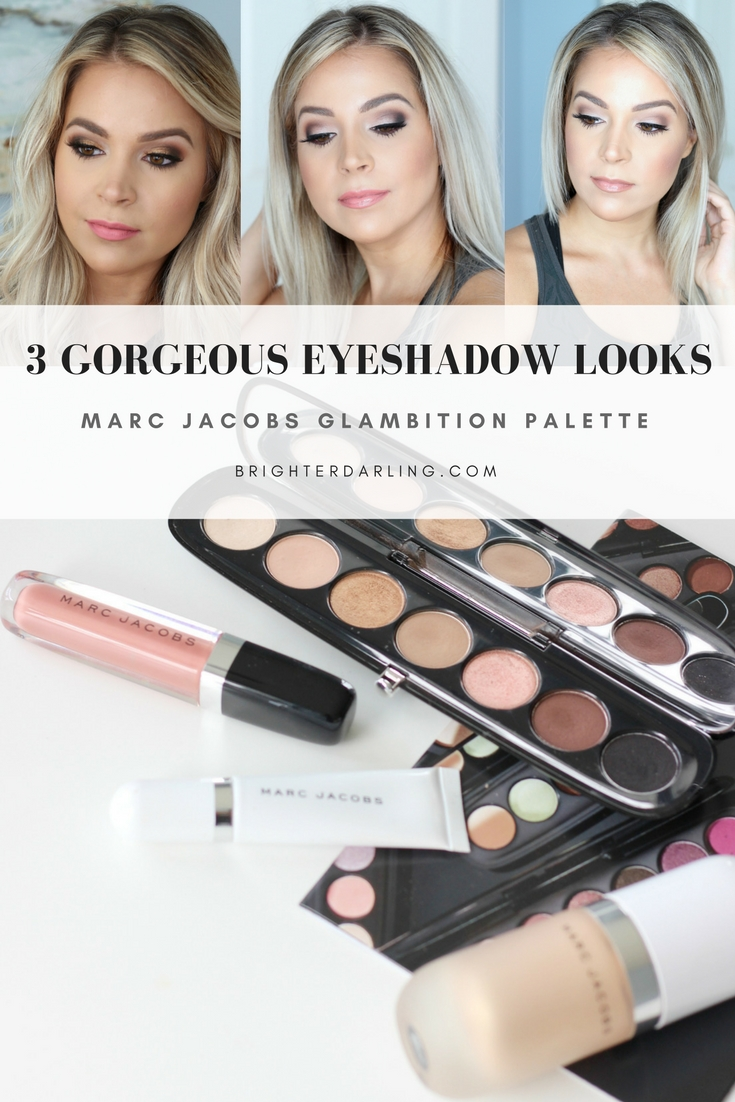 3 Pretty Neutral Eyeshadow Looks Using Marc Jacobs Glambition #eyemakeup #MarcJacobs #TheDressedEye