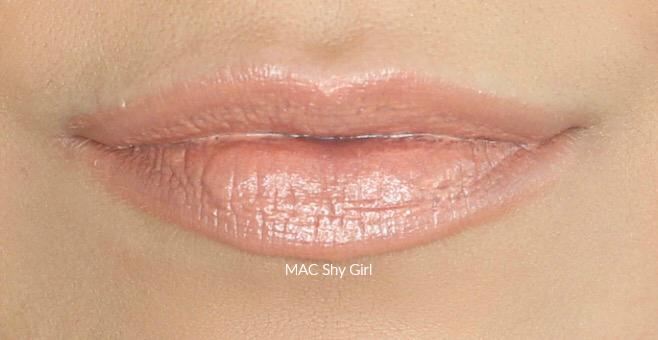 MAC Shy Girl Swatch on Medium Skin