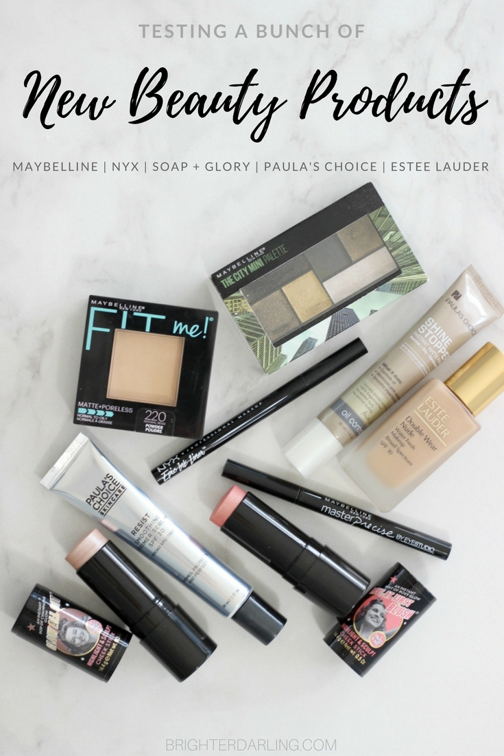 new beauty products i'm currently testing   Testing a bunch of NEW BEAUTY PRODUCTS - Maybelline City Mini Palette Urban Jungle, Estee Lauder Double Wear Nude Water Fresh, NYX Epic Ink Liner, Paula's Choice Smoothing Primer SPF30 and more #BeautyBlog
