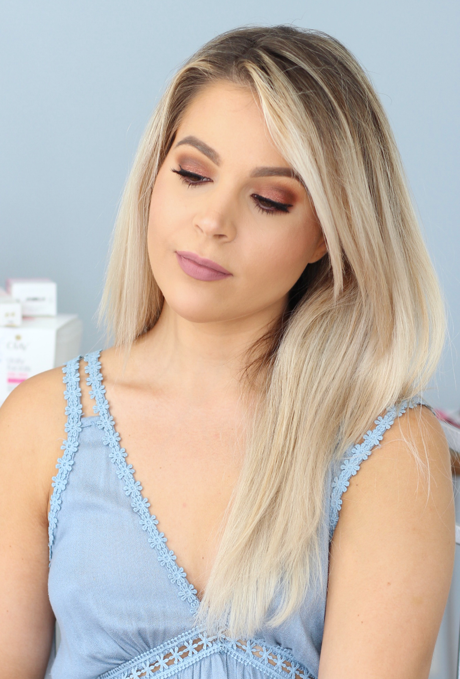 Urban Decay Naked Heat Review and Tutorial for Brown Eyes   Shimmery Smokey Eye with Warm Tones   Dose of Colors Stone on Medium Skin