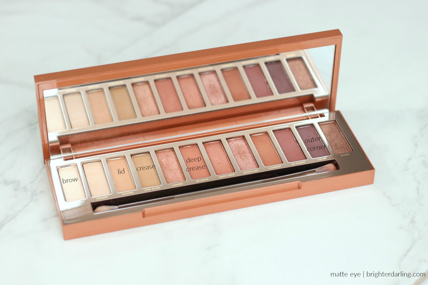 Urban Decay Naked Heat Review and Tutorial for Brown Eyes   matte eye look