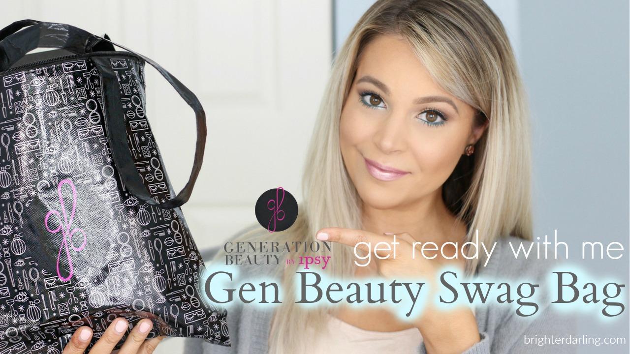 YouTube GRWM Ipsy GenBeauty Swag Bag