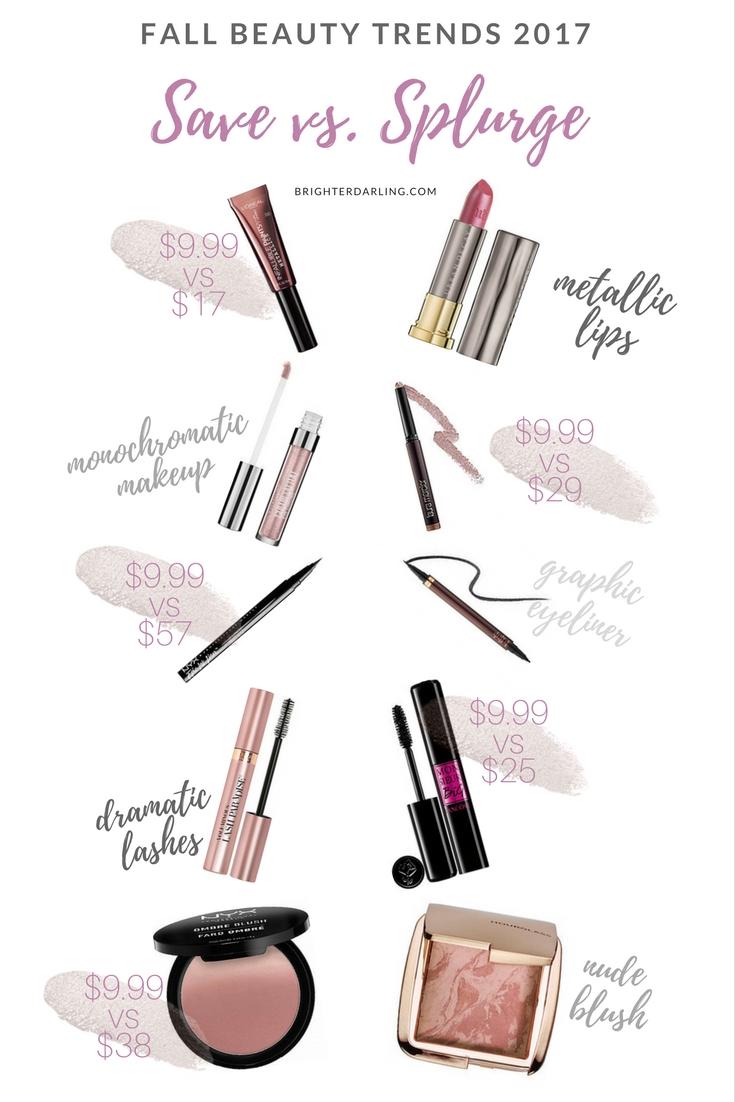 Save vs Splurge Fall Beauty Trends 2017 | Save vs Splurge Beauty Trends Fall 2017 | Brighter Darling Blog Philadelphia Beauty Blogger New Jersey Beauty Blogger