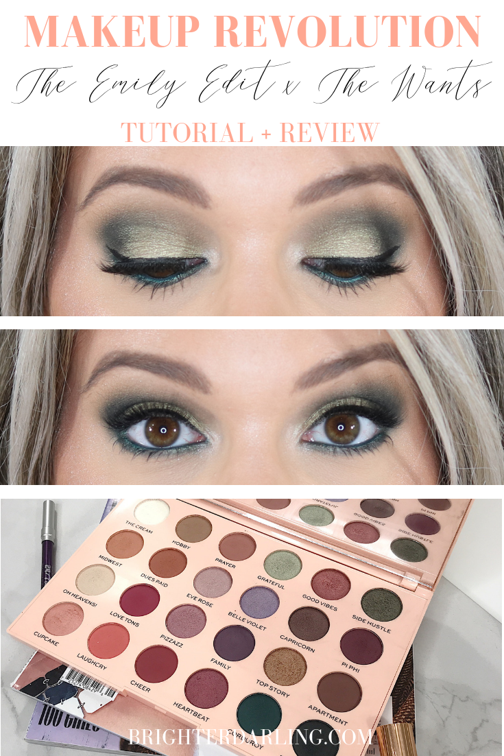MAKEUP REVOLUTION THE EMILY EDIT THE WANTS PALETTE TUTORIAL AND REVIEW _ GREEN EYE MAKEUP TUTORIAL _ AFFORDABLE MAKEUP TUTORIAL